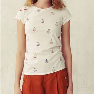 Anthro Pilcro and the Letterpress Sailboat T-shirt
